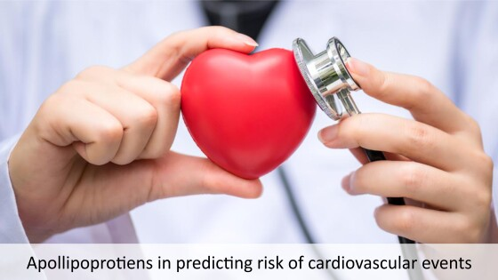 Apollipoprotiens in predicting risk of cardiovascular events