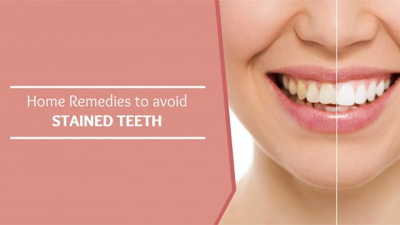 Home Remedies to avoid stained teeth