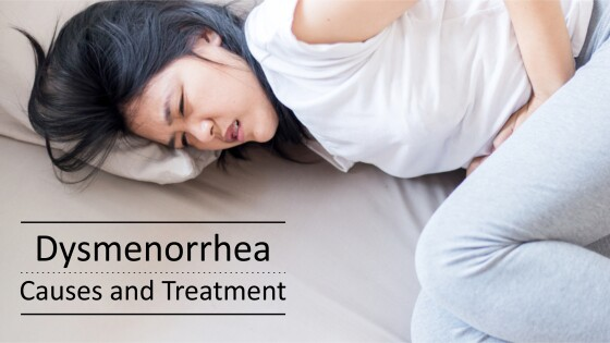Dysmenorrhea causes and treatment